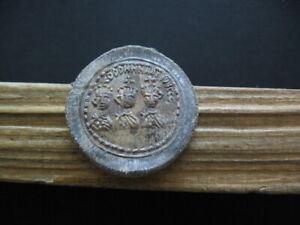 THEODOSIUS I,ARCADIUS & HONORIUS  Exagium 4 Solidi Lead Weight 393-395 AD 17 gr.