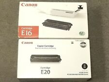 Canon E16 Black E20 Black Toner Cartridge PC 300 Genuine New Open Lot Of 2