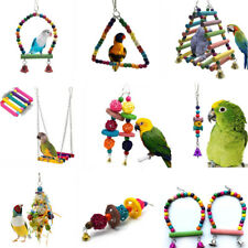 Pet Swing Bird Toy Parrot Rope Harness Cage Hang Toys For Parakeet Toy New 1pc