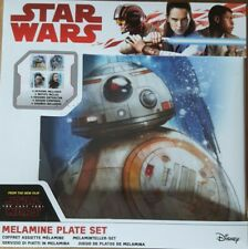 Star Wars EPVIII: Plate Set: The Resistance, Melamine, Multi-Colour
