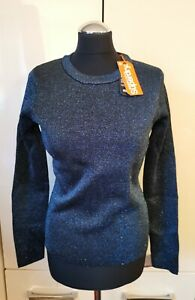 BNWT lovely SUPERDRY Metallic Sparkle Knitted Top - Jumper - SMALL = UK 10