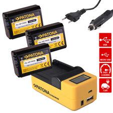Ladegerät USB LCD + 3X Akku f Sony NP-FW50 A7/S/R A3000 Α6000 ALPHA 6300 ILCE-63