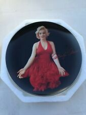 """Marilyn Monroe """"Lady In Red"""" Up Close And Personal Collectors Plate Bradford"""