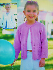KNITTING PATTERN Childrens Lace Hem Cardigan /& Sleeveless Top Cotton DK KC 3904