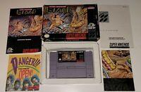 Super Adventure Island SNES Super Nintendo game COMPLETE w. box nice condition