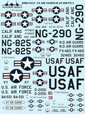US Air National Guard Pt:1 1/72nd scale decals