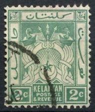 Kelantan 1921-8 SG#16, 2c Green Used #D9944