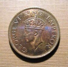 INDIA, BRITISH - 1940 C.  BRONZE 1/4 ANNA - GEORGE V- 2ND HEAD .  KM#531  QMC 4