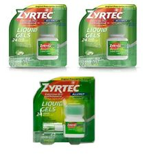 80 + 25=105 Zyrtec Liquid Gels Allergy Relief 10 mg-105 Count New/Sealed-WW Ship