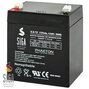 Akku 12V 4,5Ah Blei Gel Batterie Notstrom Alarm USV Solar 4Ah 4.5Ah 12-Volt