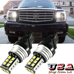 6000K White 3157 LED Daytime Running Light DRL Bulbs For 05-06 Cadillac Escalade