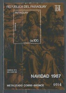 Paraguay 1987, Art, Paintings, Durer, Bronze foil, unusual.