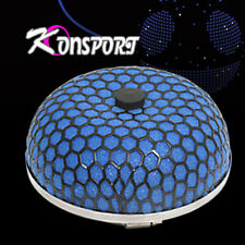 "3"" Inch Universal Micro Mushroom Filter Black Housing Blue Foam Air Intake Turbo"