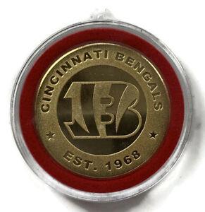 NEW NFL Cincinnati Bengals Gold Colored Medallion Christmas Ornament - FREE Ship