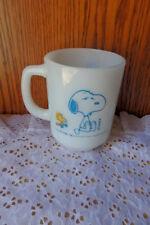 "Vintage Fire King Snoopy Coffee/Tea Mug ""Im not worth a thing before my coffee b"