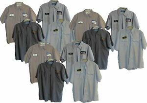 Used Work Shirts Lot of 12 Grade B Long / Short Sleeve Mechanics -Free Shipping