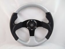 1984+ CLUB CAR DS SILVER  steering wheel golf cart WITH Adapter 3 spoke