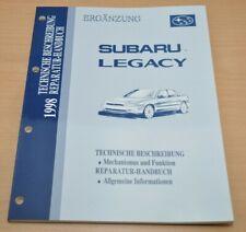 SUBARU Legacy 1998 Reparatur Handbuch Mechanismus und Funktion Allgemeine Infos