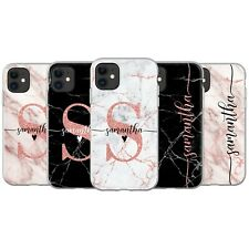 PERSONALISED MARBLE PHONE CASE ROSE GOLD GLITTER COVER FOR IPHONE 11 7 X XS MAX