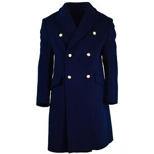 Genuine Russian army Wool Overcoat blue long military officer air force coat NEW