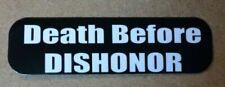Наклейка на шлем Death Before Dishonor