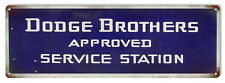 Dodge Brothers Service Station Reproduction Garage Shop Metal Sign 6x18