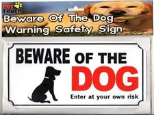 Beware of The Dog Warning Safety Home House Gate Door Wall Mounted Security Sign