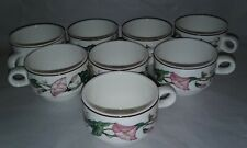 VILLEROY & BOCH Palermo Morning Glory Demitasse Cups Set Of 8
