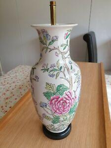 Ceramic vase lamp stand, beautiful Chinese Oriental motifs