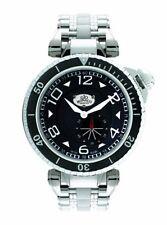 Gio Monaco Men's 641 Poseidon Black Dial Sub Second Steel and Black PVD Watch