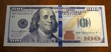 One (1 piece) $100 Dollar Bill Funny Joke Play Money NEW STYLE Real Size