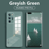 For Huawei P40 P30 Pro Mate 30 20 Pro Hard Slim Glossy Tempered Glass Case Cover