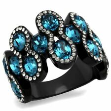 Aquamarine Cubic Zirconia Costume Rings
