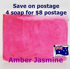 HANDMADE NATURAL TRANSPARENT SOAP * Amber Jasmine * 100 Grams 4 for $8 Postage