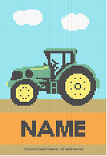 TRACTOR - PERSONALIZED  Color Graph Afghan Pattern