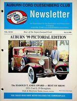 Vintage Auburn Cord Duesenberg Club Newsletter Magazine Vol 47 1999 No.8 m889