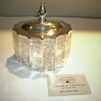 Vtg Godinger Silver Plate Red Velvet Lined Museum Paul Revere Copy Trinket Box
