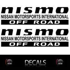 (2) Black NISMO OFF ROAD Decals Stickers Nissan Titan Frontier Pathfinder CUSTOM