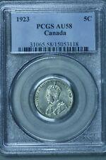 Canada  5 Cents 1923   PCGS AU58  S163