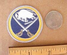 "NHL Buffalo Sabres Hockey Logo 1 3/4"" Diameter Iron-On Cap Shirt Jacket Patch"