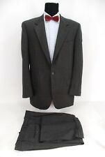 Joseph Abboud 2Btn Suit Gray Brown Tan Check Wool USA Made 43L