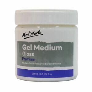 Mont Marte Acrylic Medium - Gloss Gel 250ml