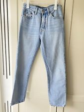 Levi's Women's 501 Crop Straight Leg Jeans In Light Blue Wash W26L28 NOT Vintage