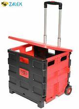Vvivid Fldcrt30kg Small Two Wheeled Folding Plastic Universal Utility Hand Cart