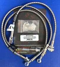 Russell 672340 Stainless Brake Hose Line Kit 1989-98 Chevy GMC C1500 C2500 2WD
