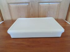 TUPPERWARE 9 x 13 cold cut keeper carrier white #290 w/lid - large snack n stor
