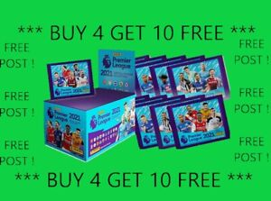 ⭐1-250 UPDATED⭐PANINI Football 2021 Premier League stickers BUY 4 GET 10 FREE