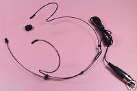Black Omni-Directional Head Headset Headworn Microphone Mic For SHURE Wireless