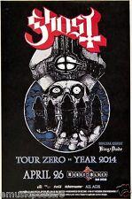 "GHOST B.C./ KING DUDE ""TOUR ZERO 2014"" SAN DIEGO POSTER-Sweden Heavy Metal Music"