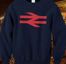 British rail logo trains model railways BR arrows sweatshirt